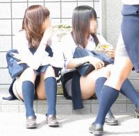 【現役JK】しゃがみパンチラ超高画質【制服高校生】